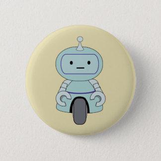 Niedliche Retro Roboter-Illustration Runder Button 5,7 Cm