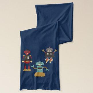 Niedliche Retro Roboter Schal