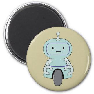 Niedliche Roboter-Illustration Runder Magnet 5,1 Cm