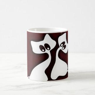 Niedliche romantische Whimsy Katzen-Schale Kaffeetasse