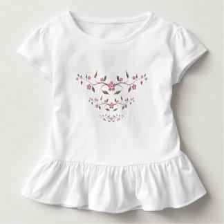 Niedliche rosa Blumen Kleinkind T-shirt