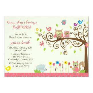 Niedliche rosa 11,4 x 15,9 cm einladungskarte