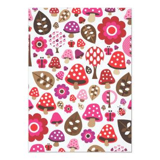 Niedliche rosa 12,7 x 17,8 cm einladungskarte