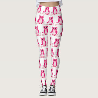 Niedliche rosa Eule Gamaschen Leggings
