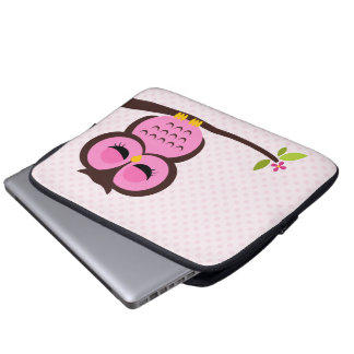 Niedliche rosa Eule Laptop Computer Schutzhülle
