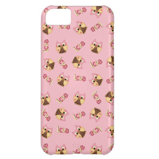 Niedliche rosa Eulen in der Liebe Hüllen Für iPhone 5C