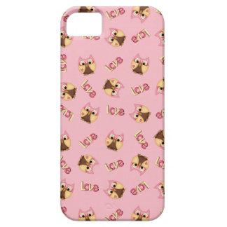 Niedliche rosa Eulen in der Liebe Etui Fürs iPhone 5