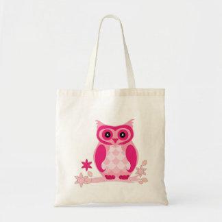 Niedliche rosa Eulen-Taschentasche Tragetasche