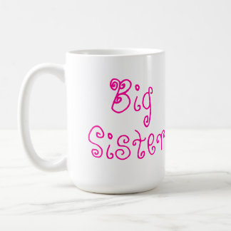 Niedliche rosa große Schwester-Tasse Tasse