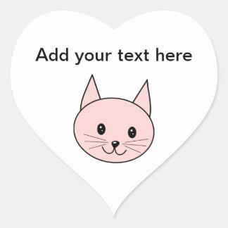Niedliche rosa Katze Aufkleber