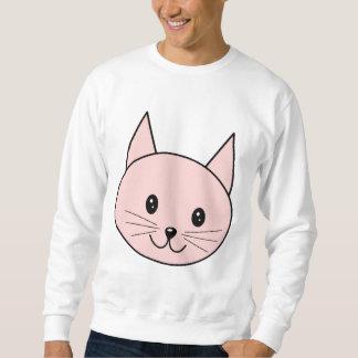 Niedliche rosa Katze Sweatshirt