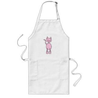Niedliche rosa Katzen-Karikatur Schürzen