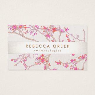 Niedliche rosa Kirschblüten-Blumenschönheit Visitenkarte