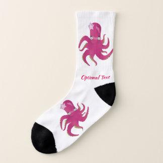 Niedliche rosa Krake und Starfish Socken