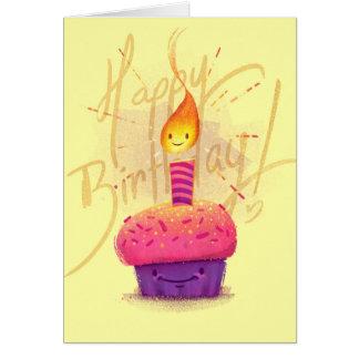 Niedliche rosa Kuchen-u. Grußkarte