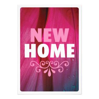Niedliche rosa neue Zuhause Housewarmingeinladung Ankündigungskarten