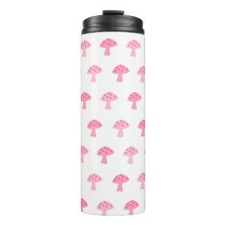 Niedliche rosa Pilz-Thermaltrommel Thermosbecher
