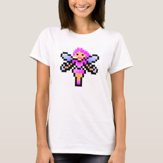 Niedliche rosa Pixelkunstfee T-Shirt