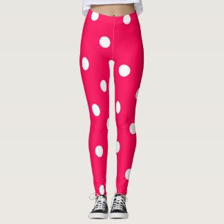 Niedliche rosa Polka-Punkt-Gamaschen Leggings