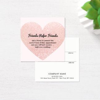 Niedliche rosa quadratische visitenkarte