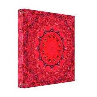 Niedliche rosa/rote Mandala-Kunst Leinwanddruck