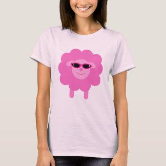 Niedliche rosa Schafe mit Sonnenbrillen T-Shirt