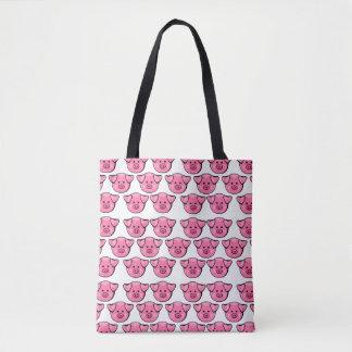 Niedliche rosa Schweine Tasche