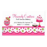 Niedliche rosa und grüne Bäckerei-Geschäfts-Karte Visitenkarten