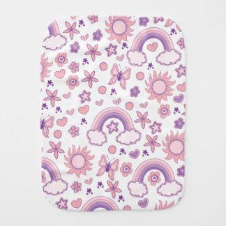 Niedliche rosa und lila Entwürfe Spucktuch