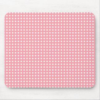 Niedliche rosa und weiße geometrische mousepads