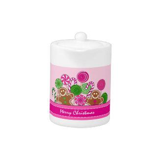 Niedliche rosa Weihnachtslebkuchen