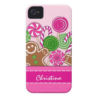Niedliche rosa Weihnachtslebkuchen iPhone 4 Hülle
