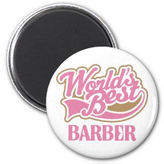 Niedliche rosa Weltbester Friseur Magnete