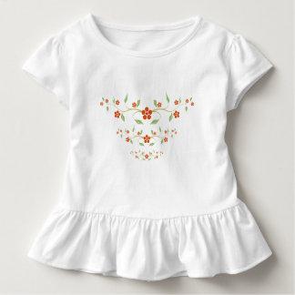 Niedliche rote Blumen Kleinkind T-shirt
