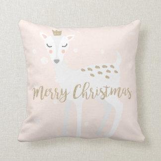 Niedliche Rotwild | erröten Weihnachten des Rosa-| Kissen