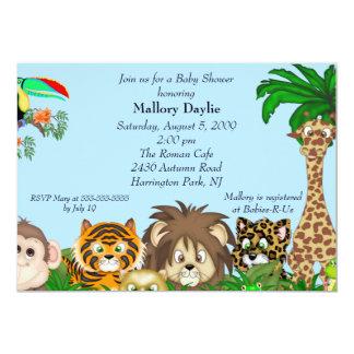 Niedliche Safari ist es eine Personalisierte Einladungskarte