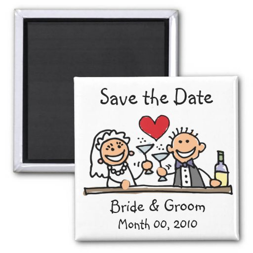 Niedliche Save the Date Magneten Magnete