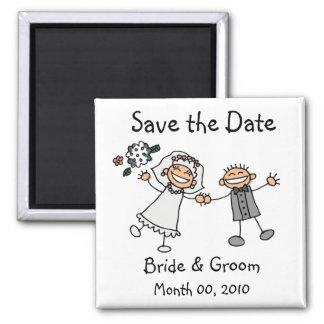Niedliche Save the Date Magneten Quadratischer Magnet