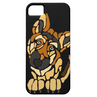 Niedliche Schäferhund-Hundekunst iPhone 5 Schutzhülle