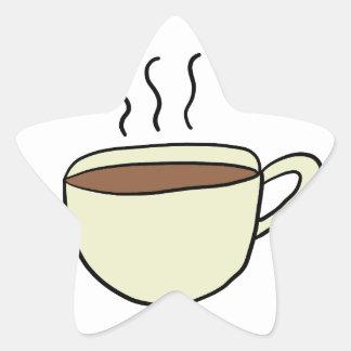 NIEDLICHE SCHALE KAFFEE Stern-Aufkleber