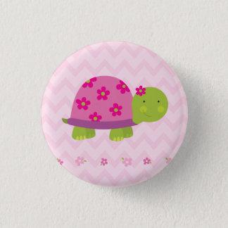 Niedliche Schildkröte-personalisierter Knopf für Runder Button 2,5 Cm