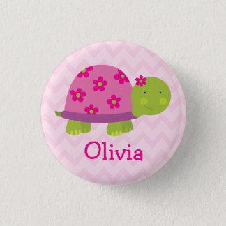 Niedliche Schildkröte-personalisierter Knopf für Runder Button 3,2 Cm