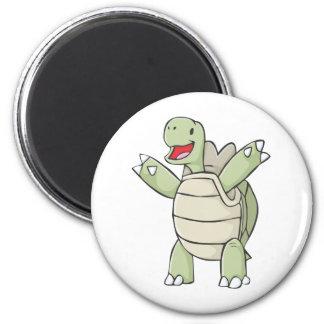 Niedliche Schildkröte Runder Magnet 5,7 Cm