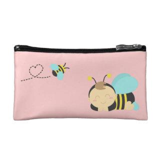 Niedliche Schlafenbaby-Jungen-Hummel-Biene für Makeup-Tasche