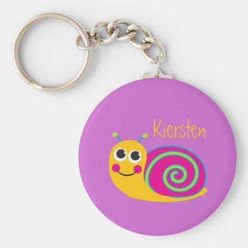 Niedliche Schnecke Keychain Schlüsselbänder