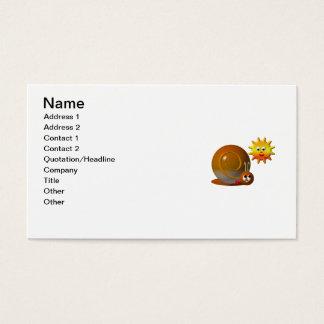 Niedliche Schnecke mit lächelnder Sonne Visitenkarte