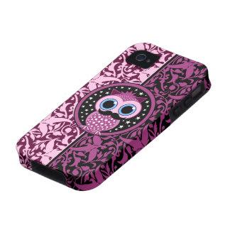 niedliche Schnurrbarteule Case-Mate iPhone 4 Hüllen