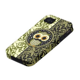 niedliche Schnurrbarteule Case-Mate iPhone 4 Cover