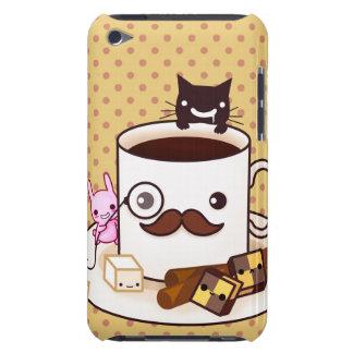 Niedliche SchnurrbartKaffeetasse mit kawaii Tieren iPod Touch Cover