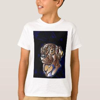 Niedliche Schokoladen-Labrador-Einzelteile T-Shirt